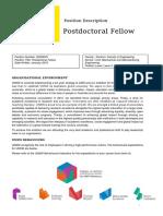 498774 Postdoctoral Fellow - PD