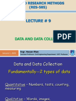 Lec 9, Data and Data Collection
