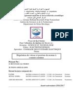 Memoire Fin d'Étude Master (Régulation de Vitesse Et Position d'Une MCC )