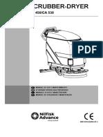 NILFISK CA450 - C530 Manual operador