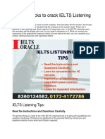 Tips and Tricks to Crack IELTS Listening Exam- IELTS Oracle