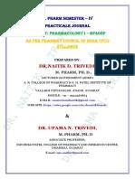PHARMACOLOGY I - PRACTICAL JOURNAL - B. PHARM SEM IV