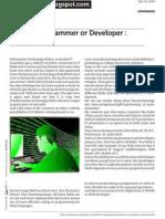 Being a Programmer or Developer Survival