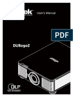 Vivitek DU8090Z Projector User Manual_English_Rev.01