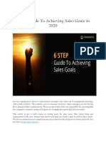 6 Step-Guide to Achieving Sales Goals in 2020