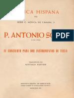 Pare Antoni Soler - Concert 4