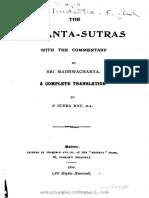 Brahmasutra Madhva English