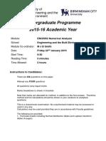 ENG5052 Numerical Analysis Exam 2015 2016 (1)