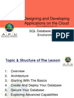 6_CT071-3-3-DDAC - SQL Database in Cloud Environment