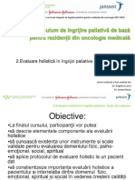 2.Evaluare holistică în îngrijiri paliative. Scale de evaluare