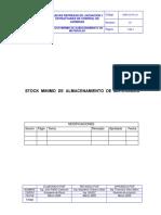 PROCEDIMIENTO STOCK MINIMO DE ALMACENAMINEO DE MATERIALES