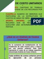 SESION 11. (Analisis de Costos Unitarios)