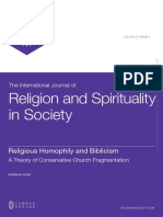 Religious Homophily and Biblicism
