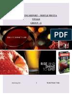 Nestle Juices Project Final