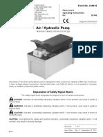 Air Hydraulic Pump OTC  english