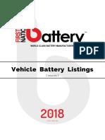 Car Battery Catalogue 1969-2018