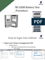 SSC02 & PBC6200 Battery Test