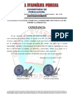 CONSTANCIA MINISTERIAL DE SAMUEL HUAMÁN