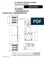 Air Handler Selection Data - Model GAM5B0B36 (10-24-19)