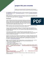 delphi - Noções da linguagem SQL para consultas