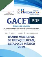 Bando Municipal Huixquilucan 2019
