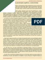 1.Avances teóricos en las psicoterapias cognitivas y constructivistas