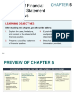 Chapter 05 - Statement of Financial Position and Statement of Cash Flows