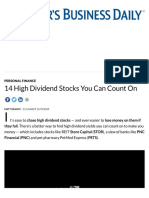 High Dividend Stocks You Can Count On