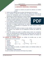 CAPITULO IV-CONTROL I Analisis de la Respuesta Transitoria y Estacionaria