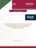 Lineamientos generales Promoción EB 2020-2021