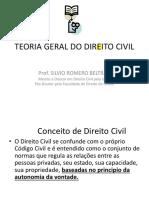 TEORIA GERAL DO DIREITO CIVIL 1a. Parte 2017