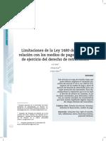 Limitación de la Ley 1480 de 2011 en relación con los medios de pago y el plazo de ejercicio del derecho de retractación.pdf