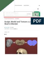 sculpt 3d skull