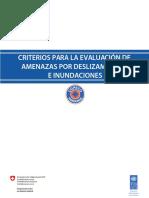 Criterios para la evaluación de amenazas por deslizamientos e inundaciones (1)