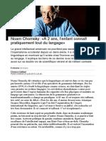 Noam Chomsky_ «A 2 ans, l'enfant connaît pratiquement tout du langage» - Le Temps