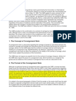 Consignment note as a legal contract how read