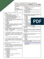 Evaluación- Planeamiento de estudio y aprendizaje