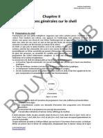 Chapitre II Notions Générales Sur Le Shell