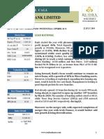 Bandhan  Bank Ltd. Update