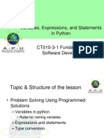 06 - python variables expressions and statements