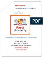 Analysis of CORRUGATED airfoil