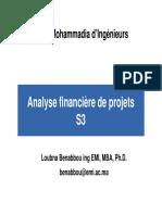 Analyse financière de projets