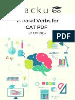 Phrasal Verbs for CAT PDF 26th OCT