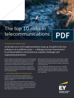 Ey the Top 10 Risks in Telecommunications 2019