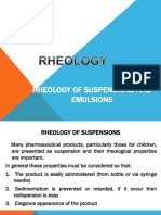 Rheology of Suspensions and Emulsions