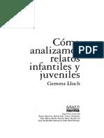 Lluch Gemma - Como Analizamos Relatos Infantiles