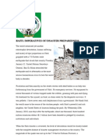Haiti - Imperatives of Disaster Preparedness
