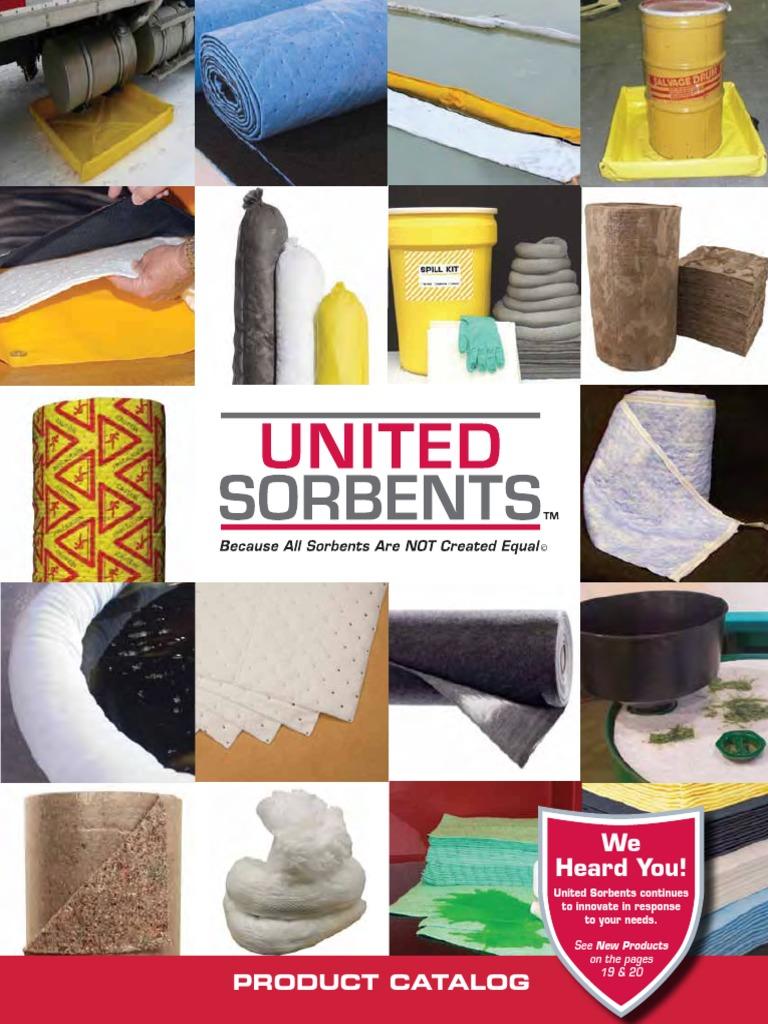 Universal Green Pack of 2 United Sorbents F-GNH-SR150 Fine Fiber Sorbent Split Roll