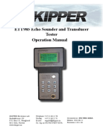 Pages from DM-T001-1424A ETT985 Echo sounder and transducer tester