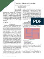 Design of a novel Mirowave Antenna-full paper
